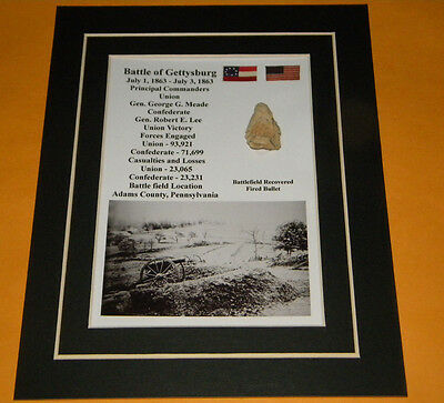 Fired Three Ring Bullet Battle of Gettysburg Civil War Relic Display Dug Matted