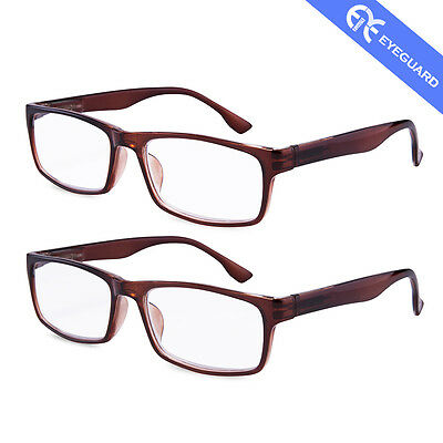 High Reading Glasses Magnification Power Spring Hinge Men Style Readers 2 Pairs