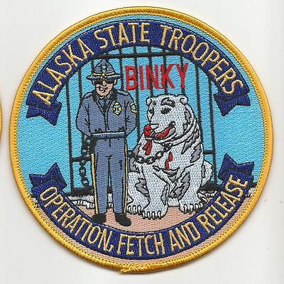 ALASKA State Troopers AK Police Trooper Operation Fetch and Release Binky patch