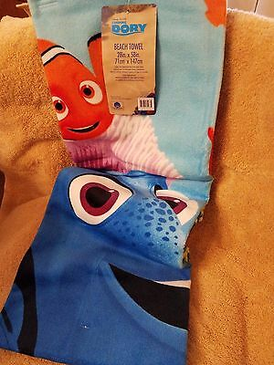 Pixar Finding Dory Ultra Soft Kids Beach Towel 100% Cotton 28 X58 New With Tags
