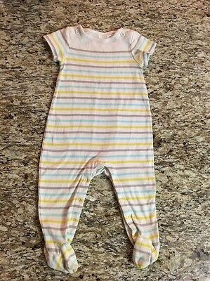 Baby Gap Infant Boys Striped Short Sleeve One-Piece/Romper Size (6-12M)