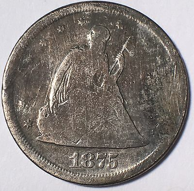 1875-S 20C Piece With Some Minor Problems