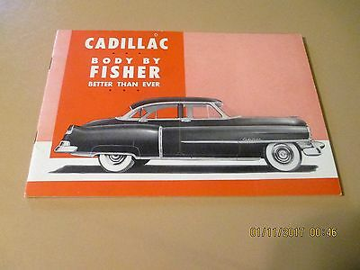 "VERY RARE 1951 Cadillac & Body By Fisher promo brochure-7.75"" X 5.25""--near mint"
