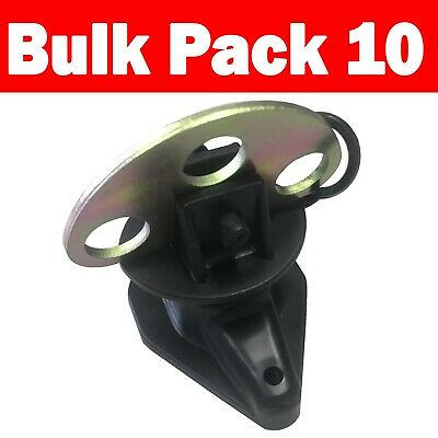 10x Gate Handle Latch Anchor Plate Electric Fence Insulator (INS075)