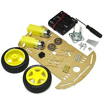 Gikfun 2WD Smart Robot Car Chassis Kit With Speed encoder Battery Box 2 Motor