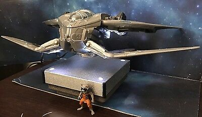 Guardians Of The Galaxy Spaceship Model Display - Floats In Mid Air ! Meteorite