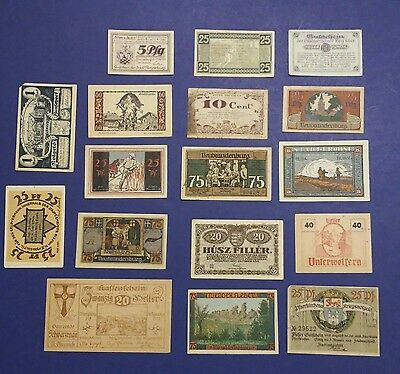 Old Germany town paper money Currency PFENNIG Mark Centimes MIXED LOT (A)