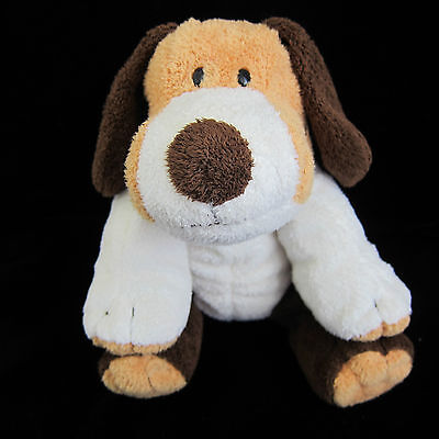 "Ty Pluffies Whiffer Beagle Puppy Dog 2002 Tan Brown 11"" Plush Toy Lovey"