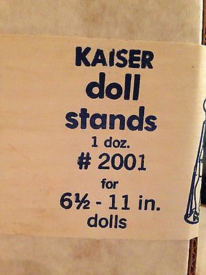 """Kaiser #2001 COATED Doll Stands 1 Doz. for 6 1/2""""-11"""" (1 Available)"""