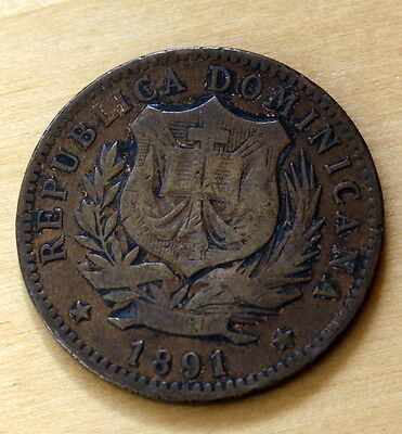 1891 Dominican Republic 10 Centesimos