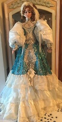"42"" Amazing Porcelain Doll By Rustie Trinity Fabulous Gown!"