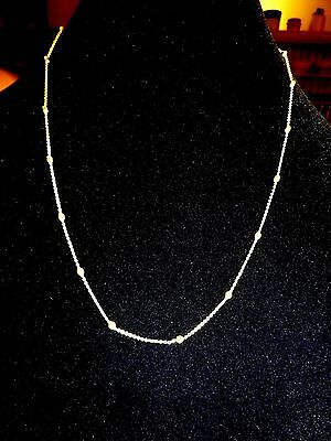 Unique 14 K -585 Yellow Gold Chain Necklace with 14 KYellow Gold Beads