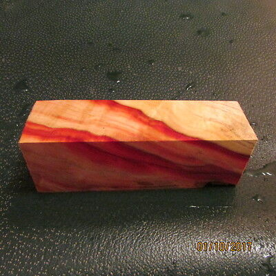Ff-Flame Box Elder Deluxe Knife Block/scales/calls/ Pen Blanks -F--25