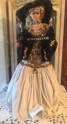 """Gorgeous 42"""" Porcelain Doll By RUSTIE Sable Limited Ed #57/750"""