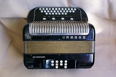 """Nice HOHNER® """"OUVERTURE"""" diatonic C/F accordion/accordian! 4 voices!7 registers!"""