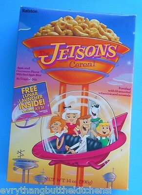 1990 JETSONS CEREAL BOX FREE LUNAR LAUNCHER INSIDE FULL UNOPENED 14 oz RALSTON