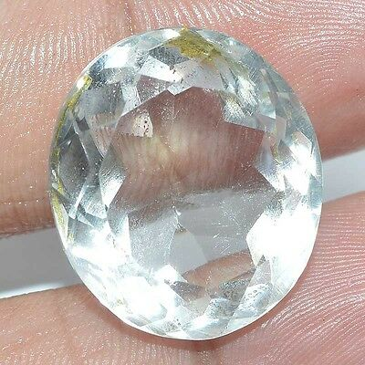 27.40 Cts. FABULOUS FACETED CUT CHRYSTAL QUARTZ OVAL SHAPE LOOSE GEMSTONES