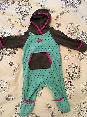 The Noth Face baby girl jumpsuit,  fleece , 3-6 months
