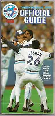 1986 Toronto Blue Jays Official Guide East Div. Champs