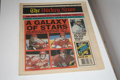 Hockey News Jan 26,1990 Lafontaine on cover