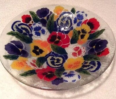 Glass Bowl With Flowers