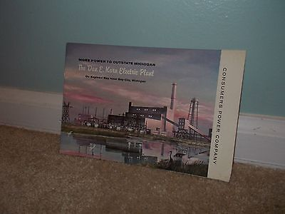 Vintage Consumers Power Karn Electric Plant Saginaw Bay Michigan Info Booklet