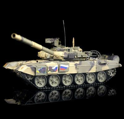 NEW HengLong 2.4Ghz T90 Plastic Ver 1/16 RC Tank RTR Smoke & Sound Airsoft 3938