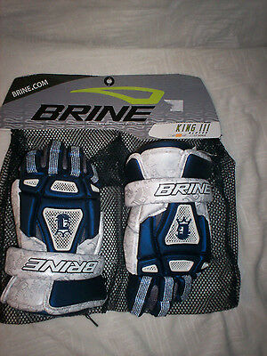 "Brine King III Navy/White 13"" Lacrosse Glove New with tags"