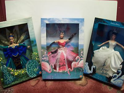 All 3 Birds Of Beauty Barbie Doll Collection,     Nrfb !