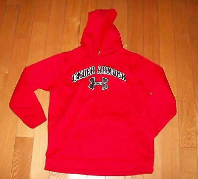 Under Armour Red Hoodie Hooded Sweatshirt Youth Large