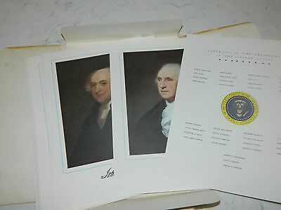 Vintage Commemorative Portraits Of The First 35 Presidents Of The United States