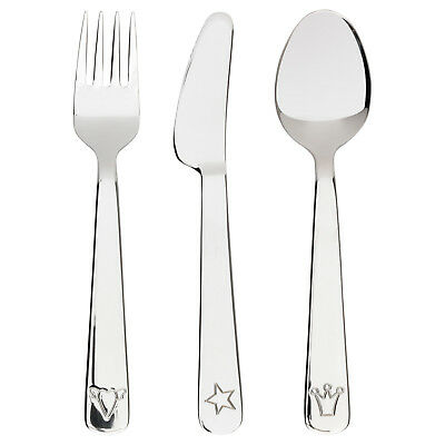 FABLER 3-piece children / toddler flatware set, stainless steel, ages 3+ *NEW*