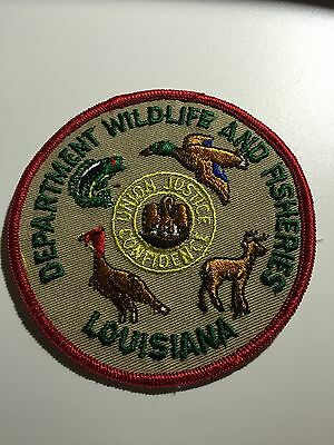 Old Louisiana LA Fish and Game Police Patch