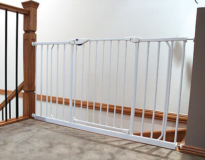 NEW PROTECTOR Baby Safety EXTRA WIDE Gate- White (Suits openings 97-108 cm) 2128