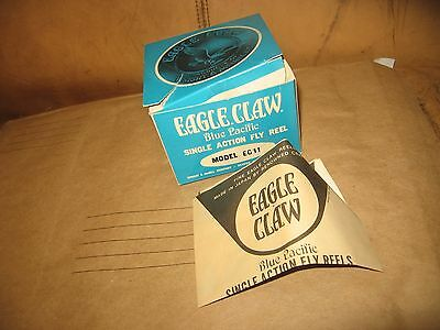 Vintage Eagle Claw ec-11 single action fly reel box only