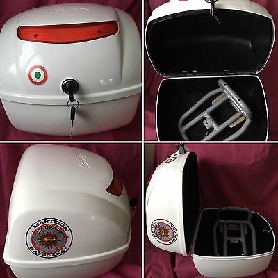 Top Case Blanc Vespa 32L Lx / S / Px  Moto Scooter + Support Offert