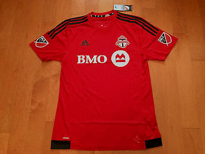 NWT LARGE ADIDAS 2016 Toronto FC AUTHENTIC HOME RED Jersey - TFC MLS Soccer Kit
