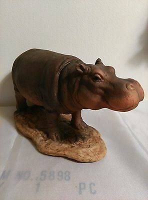 """Large (Adult) Hippo, 5"""" X 9"""", New, Hand Painted"""