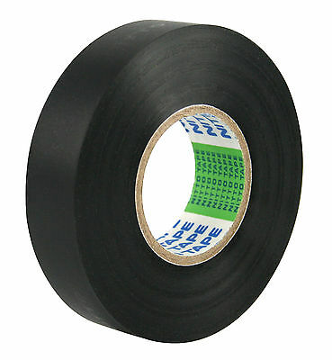 10 Rolls 18mm x 20m Black Nitto PVC Electrical Insulation Tape No. 203E