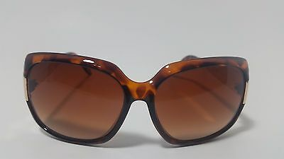 Louis-V Brown Oversized Square Gold Metal Temple Women's Sunglasses