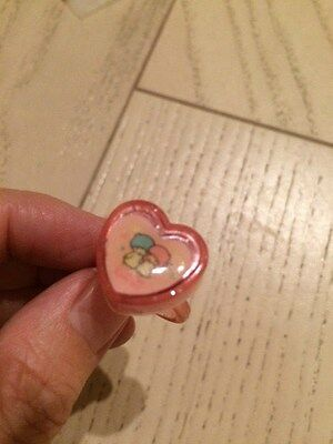 Sanrio little twin stars ring stamp rare vintage 1998 heart shaped
