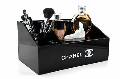 Chanel Make Up  Cosmetic Box Organizer Tissuer Holder 100% Authentic Rare