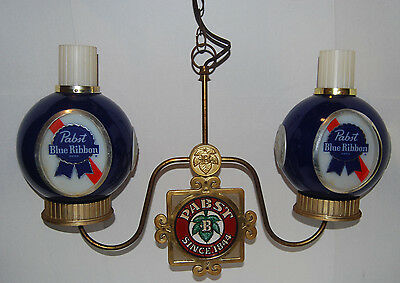 Vintage PABST BLUE RIBBON Two Scone Chandelier (Working)
