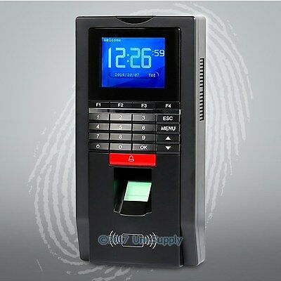 Biometric Fingerprint Time Clock And Access Control With RFID Reader+TCP/IP+USB