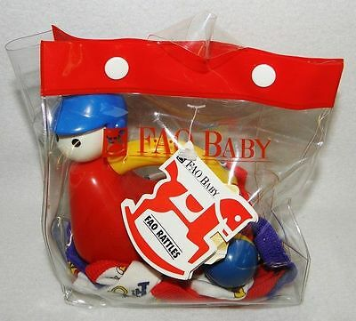 NEW Baby FAO Schwarz Crawling Rattle Hat Booties Gift Set