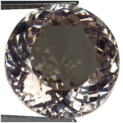 8.41 Ct IGI Certified Natural Unheated Morganite Very Light Pink Round Cut
