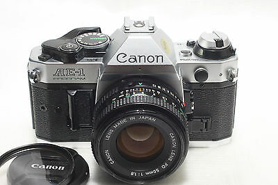 Canon AE-1 Program film Camera w/ FD 50mm f1.8 lens *Excellent*