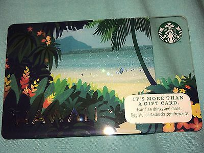 Starbucks Hawaii Exclusive Beach COLLECTIBLE Gift Card NO VALUE