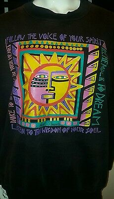 Vintage 90's Laurel Burch Sweatshirt Size Large