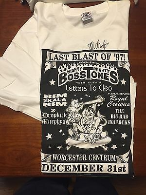 XL AUTOGRAPHED Mighty Mighty BossTones NYE Concert Tee (20-year anniversary!)